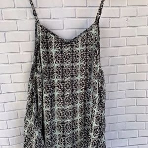 Volcom Flowy Black and White Romper Size S